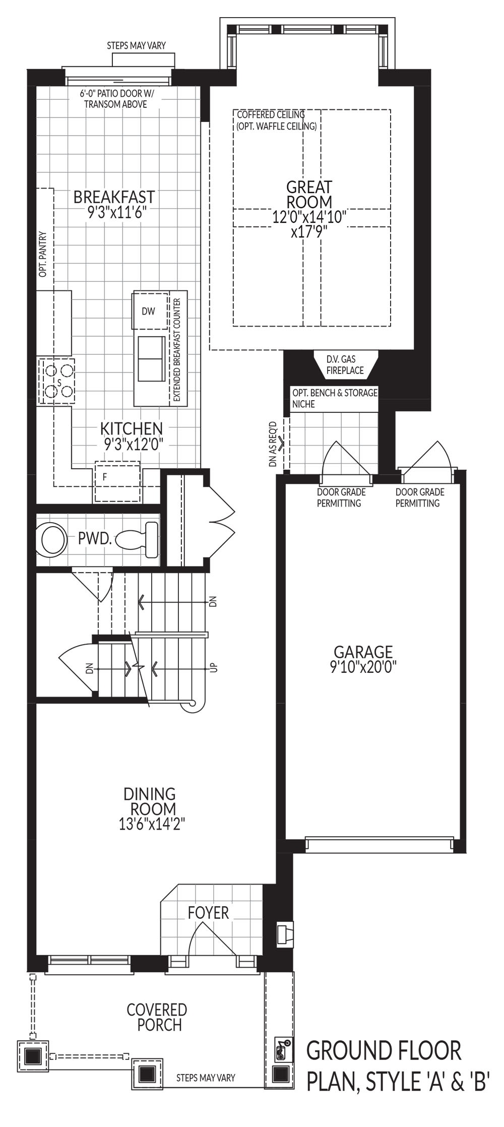 Ground floor plan style A & B